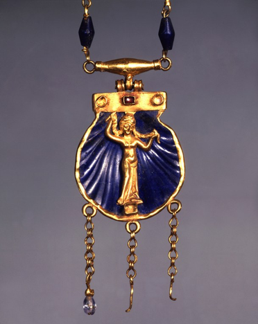 Detail image of pendant on the necklace.