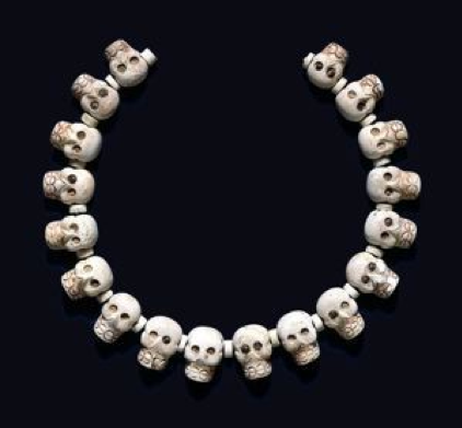 Image of Aztec Skull Necklace