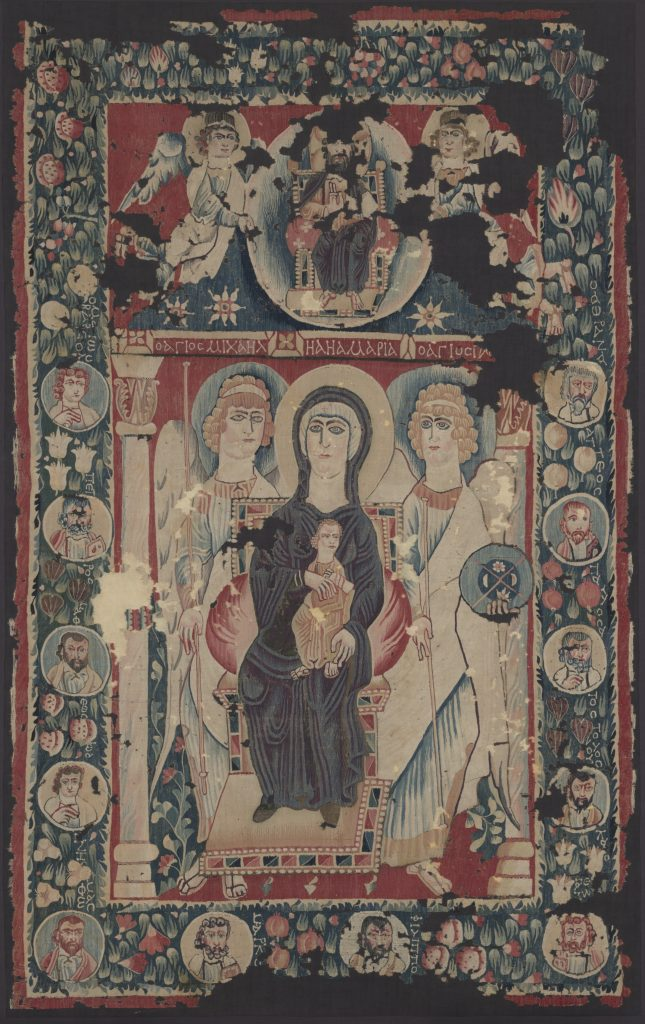 Display image of the Hanging with Depiction of Virgin and Child.